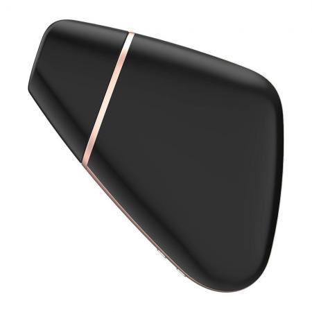 Satisfyer App Enabled Love Triangle Clit Massager Black