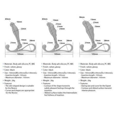 Zini Janus Anti Shock Large Prostate Massager