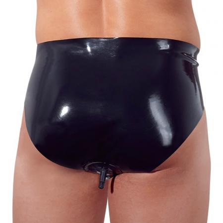 Latex Briefs with Anal Plug