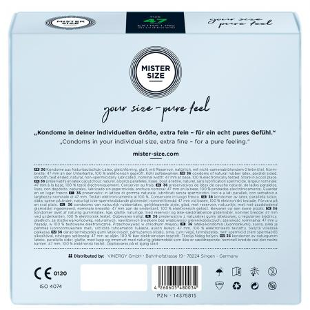 Mister Size 47mm Your Size Pure Feel Condoms 36 Pack