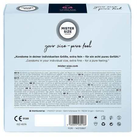 Mister Size 64mm Your Size Pure Feel Condoms 36 Pack