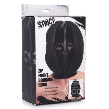 Strict Zip Front Bondage Hood