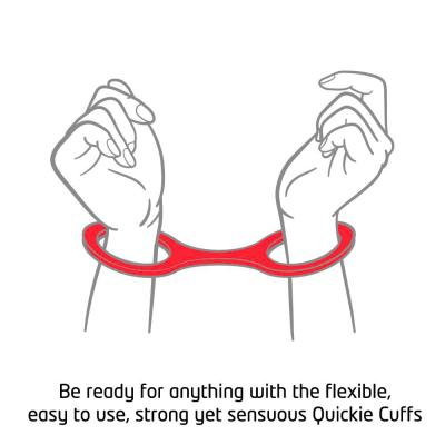 Quickie Cuffs Large Red Ankle Or Wrist Cuffs