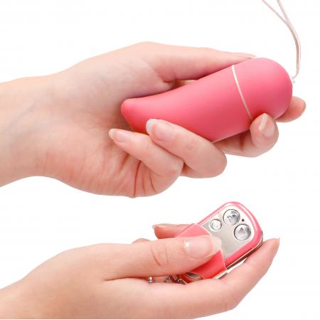10 Speed Remote Vibrating Egg BIG Pink